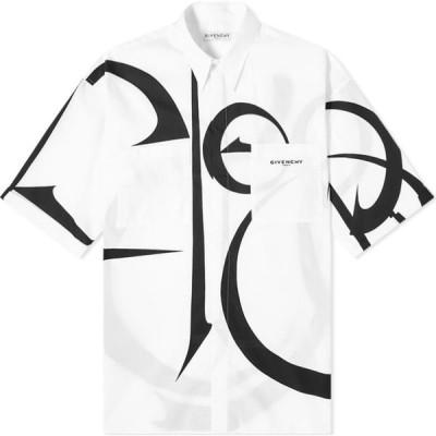 ジバンシー Givenchy メンズ 半袖シャツ トップス fleurs short sleeve shirt White/Black