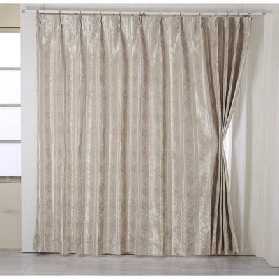 遮光 ドレープカーテン*メデューサ裏地付(ローズ) 巾150×丈178cm 厚地2枚組