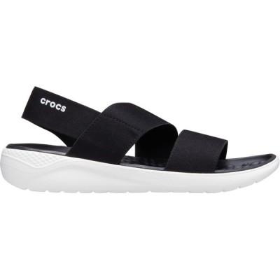 クロックス サンダル シューズ レディース Crocs Women's LiteRide Stretch Sandals Black/White