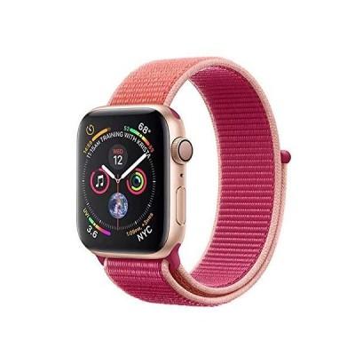 METEQI バンド 対応 Apple Watch、フックファスナー付き新しいナイロンスポーツループバンドストラップ交換バンドアップルウォッチシリーズ