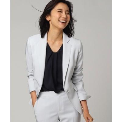 ジャケット テーラードジャケット 【洗える】トリアセネオクロステーラードジャケット