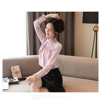 [55555SHOP]大人気 春ファッション登場!★  レディース  長袖 ブラウス トップス ゆったり おしゃれ 可愛い トップス シフォンシャツ