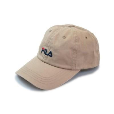 FILA フィラ キャップ 113001 ベージュ メンズ レディース 男女兼用 紳士 婦人 吸汗速乾 洗える 綿 帽子 紫外線対策 UVケア サイズ調節可 ネット通販 春夏