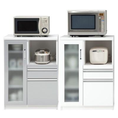 キッチンカウンター 幅70cm 完成品 収納 食器棚 レンジ台 間仕切り 国産