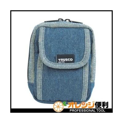 トラスコ中山 TRUSCO デニム携帯電話用ケース 2ポケット ブルー TDC-H101 【768-9900】