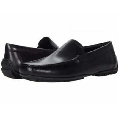 Geox ジオックス メンズ 男性用 シューズ 靴 ローファー Moner2Fit5 Black【送料無料】