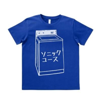 音楽・バンド・ロック・シネマ  Tシャツ SONIC YOUTH  ソニックユース カタカナ ミッドブルー MLサイズ