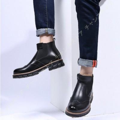 サイドゴアブーツ チェルシーブーツ メンズ 疲れにくい ショートブーツ メンズブーツ 黒ブーツ カジュアルブーツ 冬 靴 歩きやすい 痛くない メンズ 柔らかい