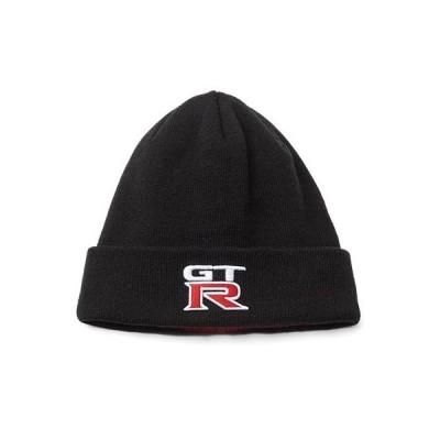 ニッサン 日産コレクション GT-R ニット キャップ ブラック GT-Rロゴ入り フリーサイズ(57〜60cm対応) 帽子 ファッション小物 ニット帽