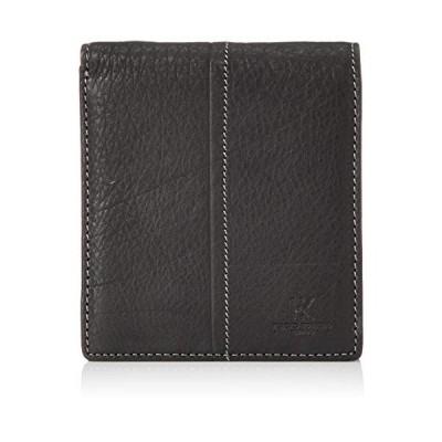 [ヒロコ コシノ オム] 二つ折り財布 ソフトレザー カード12枚収納 小銭入付き 本革 紳士用 HHAO002NT ブラック