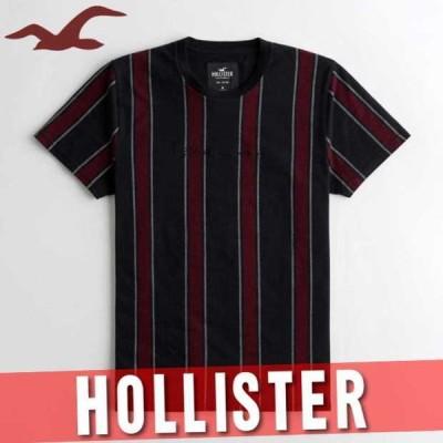 ホリスター アバクロ ストライプ柄Tシャツ 半袖 メンズ グラフィック ロゴ 丸首 XS〜XXL 新作