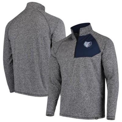 ユニセックス スポーツリーグ バスケットボール Memphis Grizzlies Fanatics Branded Static Quarter-Zip Pullover Jacket - Heathered C