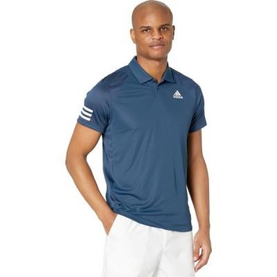 アディダス adidas メンズ ポロシャツ トップス Club 3-Stripes Polo Crew Navy/White