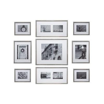 Gallery Perfect 17FW2317 フォトキット 装飾アートプリント&ハンギングテンプレートギャラリーウォールフレームセット 9ピース