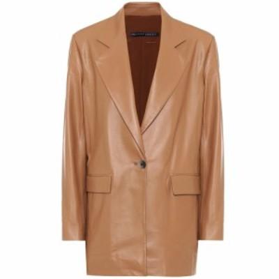 ゼイネプアルケイ Zeynep Arcay レディース スーツ・ジャケット アウター Single-breasted leather blazer Butter