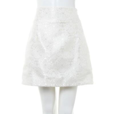 アラマンダ allamanda BACKレースUPアソート台形スカート (オフホワイト)