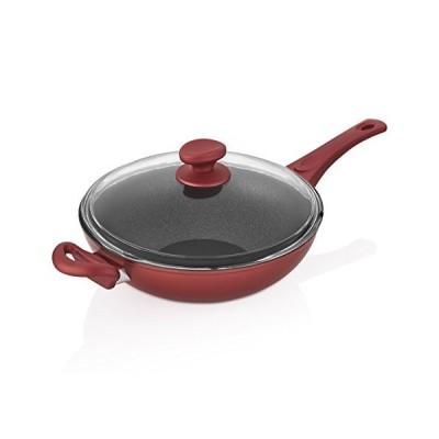saflonチタンNonstick Wok Pan、4?mm鋳造アルミニウムとPFOAフリーの傷付きコーティングイギリスから、食器洗