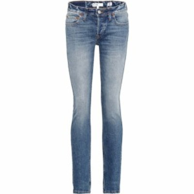 リダン Re/Done レディース ジーンズ・デニム ボトムス・パンツ stack low-rise skinny jeans Medium Dusty Wash