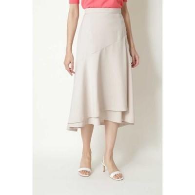 NATURAL BEAUTY / ナチュラルビューティー ◆ストレッチサテンスカート
