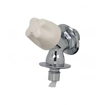 GAONA ガオナ 洗濯機用水栓 コンパクト (ワンタッチ接続 ツバ・送り座つき 安心ストッパーつき) 呼13 取付ネジ:PJ1/2 GA-LA003