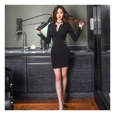 袖あり パーティードレス 袖あり 大きいサイズ パーティ ドレス ワンピース 20代 30代 40代 ドレス 黒 袖あり 長袖 ミモレ 膝丈 春夏 大きいサイズ