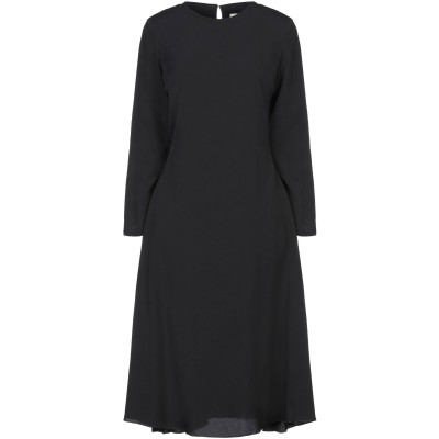 ロートレ ショーズ L' AUTRE CHOSE 7分丈ワンピース・ドレス ブラック 40 ポリブチレン 100% / ポリウレタン 7分丈ワンピー