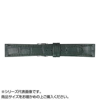 MIMOSA(ミモザ) 時計バンド P型押ワニ 20mm グリーン (美錠:銀) CP-G20 バンド