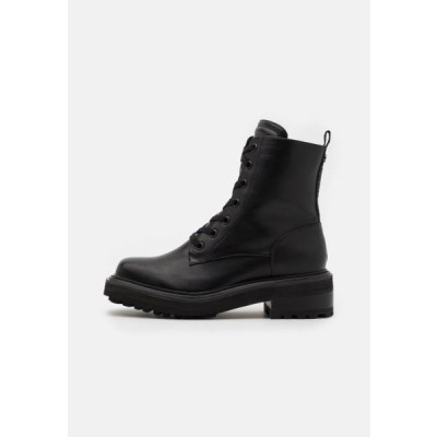 バッファロー レディース 靴 シューズ QUANDA - Lace-up ankle boots - black
