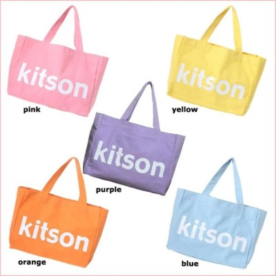 KITSON COLOR CANVAS TOTE BAG 5カラーキャンバストートバッグ ロゴトートバッグ