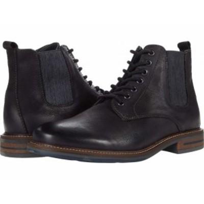 Steve Madden スティーブマデン メンズ 男性用 シューズ 靴 ブーツ レースアップ 編み上げ Ballot Lace-Up Boot Black【送料無料】