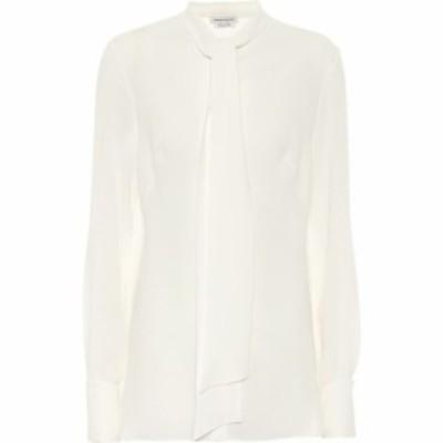 アレキサンダー マックイーン Alexander McQueen レディース ブラウス・シャツ トップス Silk-georgette shirt Soft White