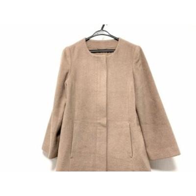 アナイ ANAYI コート サイズ38 M レディース 美品 ベージュ 冬物/ノーカラー【中古】20200628