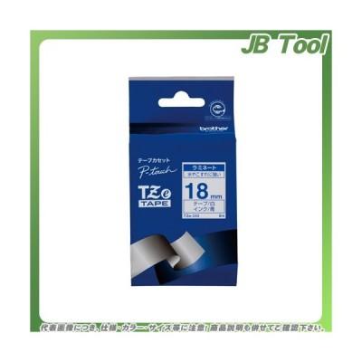ブラザー ピータッチテープ18mm白/青 TZE-243