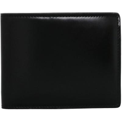 [ミカド] 二つ折り財布 アリニンコードバン メンズ 636015 【01】ブラック