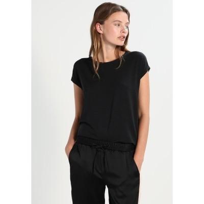 ヴェロモーダ Tシャツ レディース トップス VMAVA PLAIN - Basic T-shirt - black