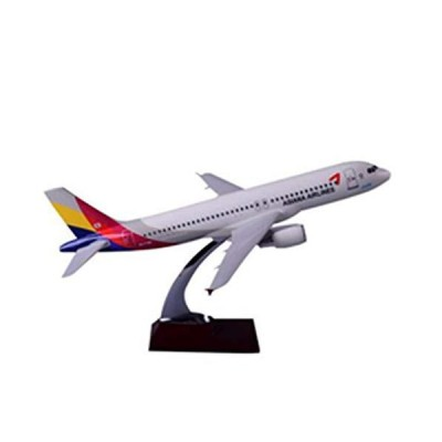 miqimaoyimium 37cm Resin Asiana Airline Aircraft Model A320 Airbus Airplane