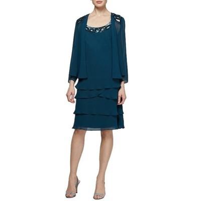 イグナイト レディース ワンピース トップス Sequin-Detail Chiffon Jacket Dress