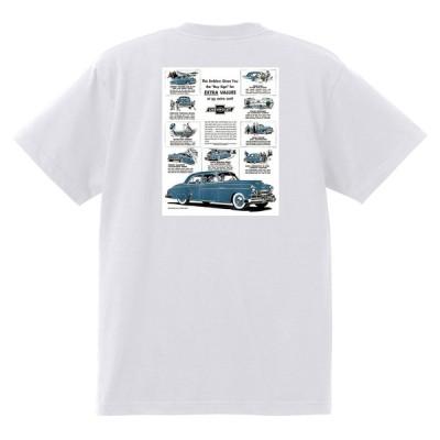 アドバタイジング シボレー Tシャツ 1949 白 135 オールディーズ 1950's 1960's ローライダー ホットロッド フリートライン