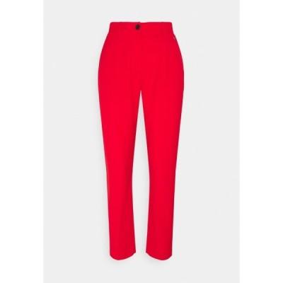 カルバンクライン カジュアルパンツ レディース ボトムス LOGO WAISTBAND CIGARETTE PANT - Trousers - red glare