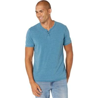 ラッキーブランド Lucky Brand メンズ Tシャツ トップス Venice Burnout Notch Morrocan Blue