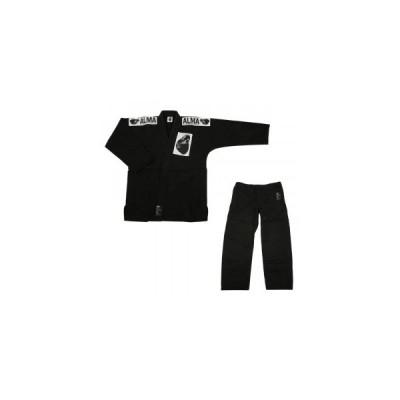 ALMA アルマ レギュラーキモノ 国産柔術衣 M0 黒 上下 JU1-M0-BK