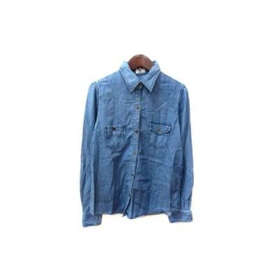 【中古】チャオパニック CIAOPANIC シャツ ブラウス シャンブレー F 青 ブルー /YI レディース 【ベクトル 古着】