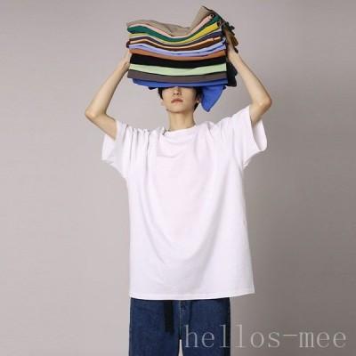 メンズ Tシャツ 半袖 ゆったり サマーTシャツ 無地 ビッグ カットソー 夏 男性 クルーネック 夏Tシャツ 丸首 半袖Tシャツ 大きいサイズ シンプル