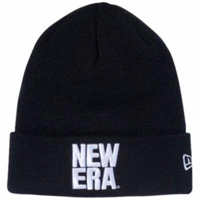【新品】 【メール便対応】ニューエラ ニットキャップ ベーシックカフニット エッセンシャル スクエア ニューエラ ロゴ New Era NewEra