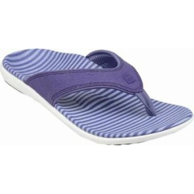 Spenco レディースサンダル Spenco Canvas Stripe Sandal Amethyst Canvas