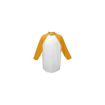 メンズ スポーツリーグ フットボール Augusta Sportswear 4421 Men's Three-Quarter Sleeve Baseball Jersey T-Shirt Tシャツ