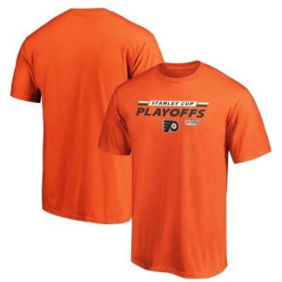ファナティクス ブランデッド メンズ Tシャツ トップス Philadelphia Flyers Fanatics Branded 2020 Stanley Cup Playoffs Bound Top Cheddar T-Shirt
