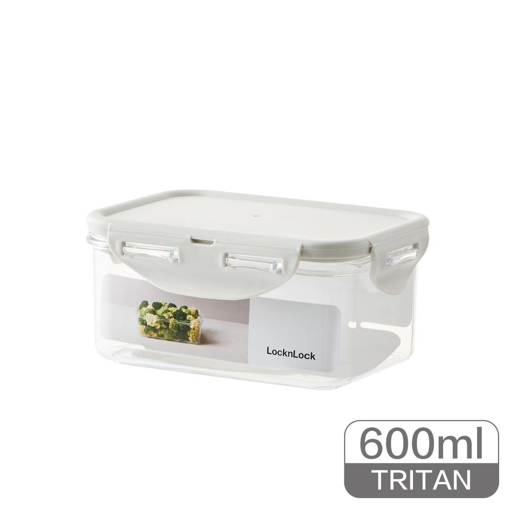 LocknLock樂扣樂扣純淨保鮮盒600ML/長方/淺灰
