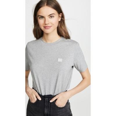アクネ ストゥディオズ Acne Studios レディース Tシャツ トップス Ellison Face T-Shirt Light Grey Melange