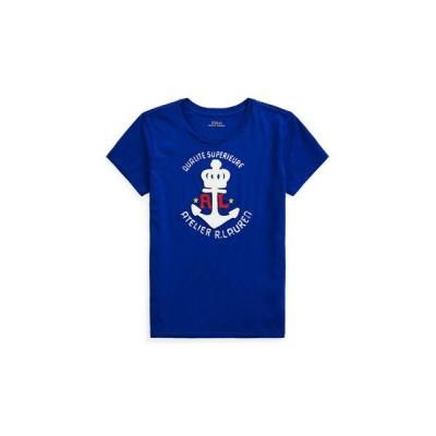POLO RALPH LAUREN/ポロ ラルフ ローレン アンカー グラフィック コットン Tシャツ 400ブルー M